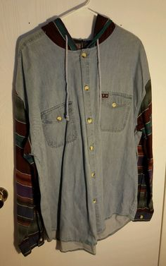 7104e92fa9a9 Cool! Denim Boho Hipster Hippie Mens XL Sweater Shirt Pre-owned Hoodie  #FadedGlory