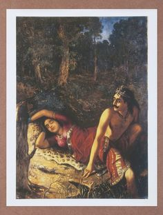 Buy Nal and Damayanti by Raja Ravi Varma Canvas Print Painting 22in x 17.5in Online at Jaypore.com