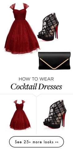 """""""Untitled #89"""" by cisneros7 on Polyvore featuring Unique Vintage and Christian Louboutin"""