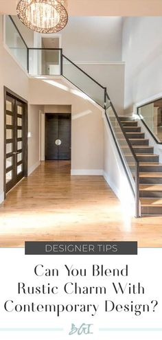 Rustic Contemporary Design. #dallasinteriordesign #contemporaryinteriordesign Rustic Contemporary, Contemporary Interior Design, Custom Built Homes, Rustic Charm, Stairs, Home Decor, Stairway, Decoration Home, Staircases