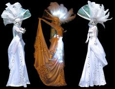 Flaming Fun Porcelain Twins Stilt Walkers:  from www.FlamingFun.com Call 07788732552 for more info.