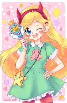 star butterfly is soo cute Star Butterfly Anime, Princess Star, Star Force, Anime Version, Starco, Animation, Star Vs The Forces Of Evil, Animated Cartoons, Star Art