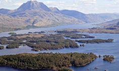 Loch Maree islands Scotland