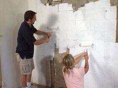 Diy Waterproofing Cinderblock Wall Expanding Hydraulic Cement Painting Bat Walls Concrete