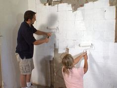 diy waterproofing cinderblock wall: expanding hydraulic cement