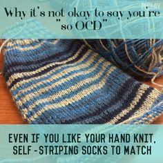 #knitting #selfstriping #socks #yarn #ocd #obsessivecompulsivedisorder #stereotypes #anxiety