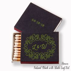 SWIRLING SOIRÉE Matchboxes  Wedding Favors by PicturePerfectPapier