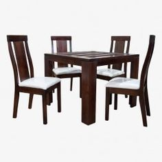 Juego Comedor Milan Small (Chocolate) Glass Dining Room Table, Dining Bench, Dining Chairs, Tables, Chocolate, Inspiration, Furniture, Home Decor, Wooden Chairs