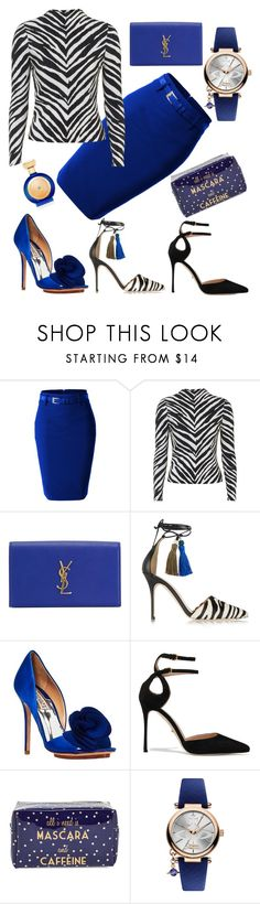 """Untitled #109"" by theonehillard ❤ liked on Polyvore featuring LE3NO, Topshop, Yves Saint Laurent, J.Crew, Badgley Mischka, Sergio Rossi, Tri-coastal Design, Vivienne Westwood and Boadicea the Victorious"