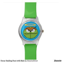 Shop Oscar Smiling Face with Halo Watch created by SesameStreet. Oscar The Grouch, Presents For Kids, Watch Faces, Smile Face, Cool Gifts, Halo, Fashion Accessories, Watch Ad, Shopping
