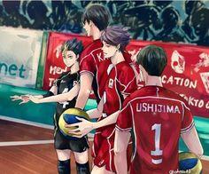Kageyama Tobio; Oikawa Tooru; Nishinoya Tooru; Ushijima Wakatoshi