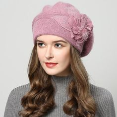 2017 winter hats for women hat Berets with balaclava Women's cap gorros rabbit fur hats for women's knitted beanie beanies - Wool berets - Hut Knit Beanie, Beanie Hats, Hats For Short Hair, Fedora Hat Women, Women Hat, Rabbit Fur Hat, Types Of Hats, Winter Hats For Women, Hats For Sale
