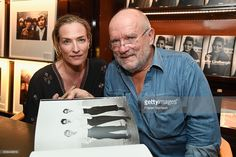 Photographer Peter Lindbergh and model Tatjana Patitz attend photographer Peter Lindbergh Book Signing for 'A Different Vision On Fashion Photography' TASCHEN Gallery on September 20, 2016 in Los Angeles, California.