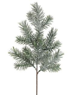 Artificial Iced Pine Spray in Green - 16in. Tall