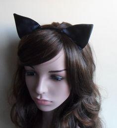 14,-  //  Haarreif   Schwarz  Catwoman Katzenohren von Cosara auf DaWanda.com