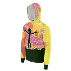 If You're a Rick and Morty fan then you going to love this all-over print hoodie.If You want to make a statement as a fan then this hoodie is definitely for you! This lightweight Rick and Morty Dimension pullover hoodie is comfortable and cool. .   260gsm french terry 100% cotton Cotton/Spandex cuffs and waistband St