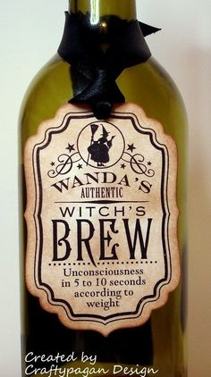 Witch's Brew-Handmade Vintage Halloween Tags/Labels-Set of 6. $7.23, via Etsy.