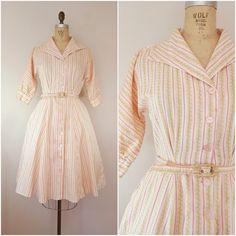 Vintage 1950s Shirtwaist / 50s Dress / by ThriftyVintageKitten