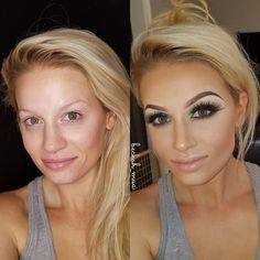 """401 Likes, 20 Comments - Beckah Mitchell (@beckah_mua) on Instagram: """"Wanted to post another #transformation #beforeandafter #thepowerofmakeup picture. My bf was…"""""""