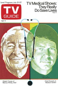 July 21, 1973. Robert Young of 'Marcus Welby, MD.' and Chad Everett of 'Medical Center.'