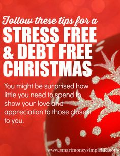 Don't leave a debt free Christmas to chance! Use these tips and start planning now. Will you be travelling to family? Will you be hosting visitors for the holidays? Who will you buy for? How many people will sit down to Christmas dinner? Answer all these questions now, make your plan and save so you can avoid using credit and getting into debt because of a surprise you didn't see coming. smartmoneysimplelife.com