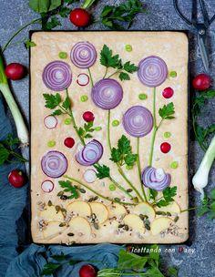 Vegan Recipes Videos, Healthy Gluten Free Recipes, Cooking Recipes, Healthy Snacks, Fruits Deguises, Aperitivos Finger Food, Focaccia Bread Recipe, Bread Art, Food Decoration