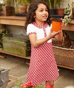 Little Bird by Jools Floral Dress is made from a mix of soft jersey and woven fabrics.