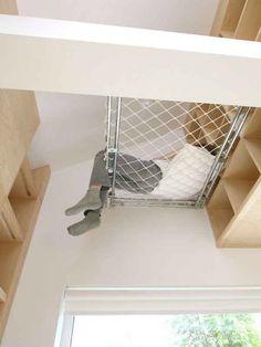 Raised indoor hammock