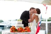 Cape Cod Wedding at Nauticus Marina from The Casual Gourmet | Style Me Pretty