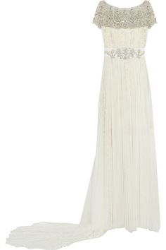 Marchesa - Embellished tulle and lace gown  #Marchesa