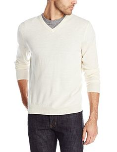 Calvin-Klein-Mens-Merino-Solid-V-Neck-Sweater
