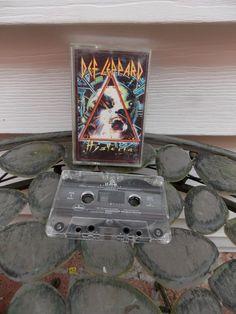 Vintage 1986 Def Leppard Hysteria Cassette by PfantasticPfindsToo, $5.99
