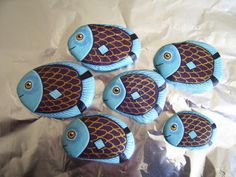 Blue Fish Painted Rocks