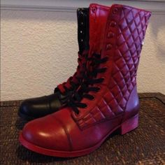 Shoes - Harley Quinn Arkham Knight Custom Boots