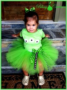 Toy Story Birthday Alien Eye Tutu Set Costume by www.BlissyCouture.com