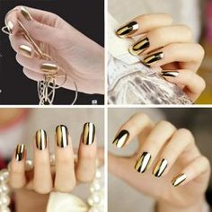 16Pcs Trendy Nail Art Tip Nail Sticker Nail Patch Fingernails Manicure Nail Foils