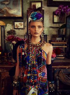 Camilla's lookbook for Winter 2013 - 'Tales from a Reading Room', styled by Mark Vassallo, with a raw sensuality and ethnic, almost tribal undertones for the modern bohemian.  http://designpilgrim.com.au/portfolios/camilla-tales-from-a-reading-room