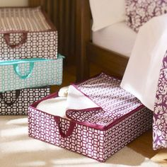 I like these for under the bed!  http://www.pbteen.com/products/dorm-geo-underbed-storage/?pkey=cstorage-bins-dorm