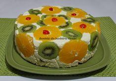 Un desert fara coacere, rapid, lejer si delicios. Kiwi, Deserts, Food And Drink, Cake, Brownies, Pineapple, Cake Brownies, Kuchen, Postres