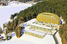 Davos, Switzerland Two bedroom, 2½ baths, 1,776 square feet A tunnel connects Davos's Stilli-Park Residences to the InterContinental Hotel, where the apartment's owner can take advantage of a spa and restaurants. The apartment has an open living room, dining room and kitchen. Located on a hillside overlooking the town of Davos, it's minutes to skiing in the winter and hiking in the summer