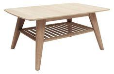 Canett Ariane  Sofabord - Lys egefinér - Moderne sofabord i hvid olieret træ. Et flot sofabord til et moderne hjem. Placer sofabordet foran sofaen for et pænt og nemt sted til kopper og snacks.