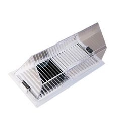 Redirect the flow of air and add comfort to your work space or home with the Floor Register Air Deflector from Deflect-o.  The air vent accessory features a clear plastic construction and two strong magnets to hold the deflector firmly onto any metal register. This floor vent cover is adjustable from 10 inches to 14 in