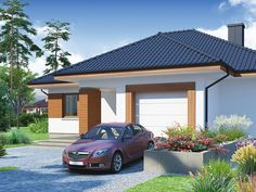 One Storey Family Home with Detailed Plan 3 Little House Plans, Small House Plans, One Storey House, Knit In The Round, Design Case, Modern House Design, Beautiful Gardens, Swimming Pools, Home And Family