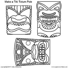 free printable tiki coloring pages - photo#22