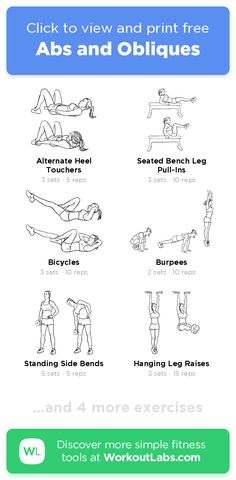 Free Workout: Abs and Obliques · WorkoutLabs Fit Abs And Obliques Workout, Core Workout Routine, Oblique Workout, Workout Exercises, Ab Workouts, Weights Workout For Women, Weight Lifting Workouts, Fit Board Workouts, Free Workout