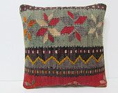 floral decorative pillow 16x16 floral throw pillow red kilim pillow outdoor pillow cover outdoor throw pillow striped pillow cover red 23889