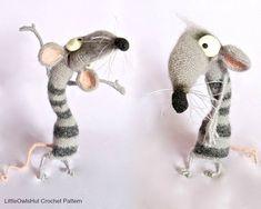 090 Funny Rat Serafima with wire frame  Amigurumi by LittleOwlsHut
