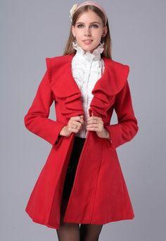 331da64d836e4 2014 Autumn and Winter Women s Lovely Princess Style Overcoat Warm Coat  Women s Outwear Slim Jacket.