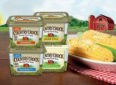 Delicious Country Crock...now with simple ingredient, high in omega 3s, and no trans fats.