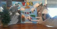 3d mountain decor vbs | VBS display to advertise this years Tell it on ...